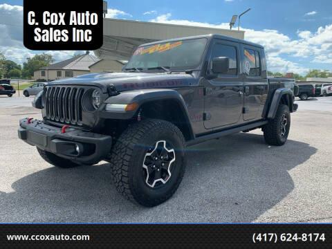 2020 Jeep Gladiator for sale at C. Cox Auto Sales Inc in Joplin MO