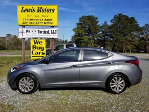 2016 Hyundai Elantra for sale at Lewis Motors LLC in Deridder LA