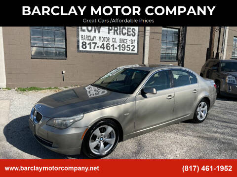 2008 BMW 5 Series for sale at BARCLAY MOTOR COMPANY in Arlington TX
