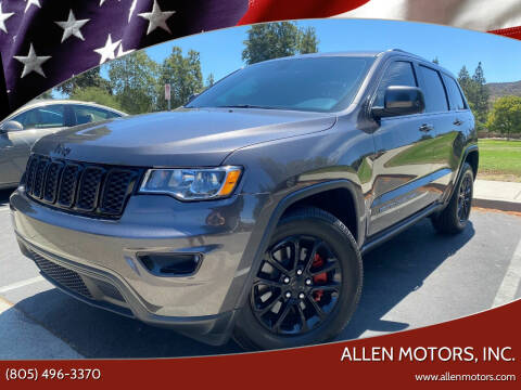 2021 Jeep Grand Cherokee for sale at Allen Motors, Inc. in Thousand Oaks CA