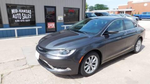 2015 Chrysler 200 for sale at Mid Kansas Auto Sales in Pratt KS