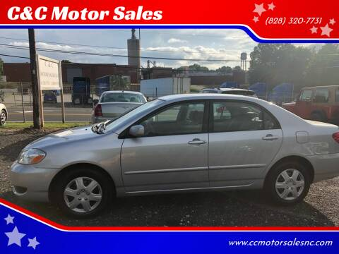 2005 Toyota Corolla for sale at C&C Motor Sales LLC in Hudson NC