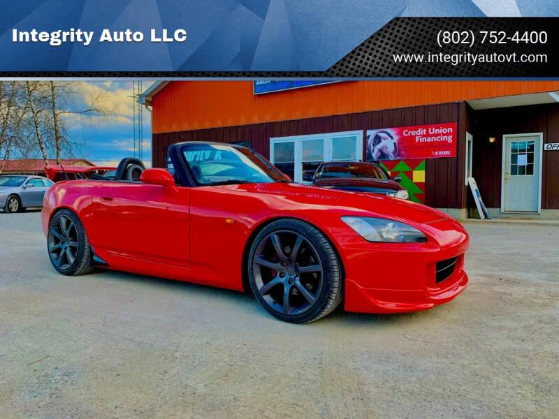 2000 Honda S2000 for sale at Integrity Auto LLC in Sheldon VT
