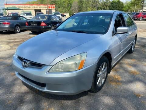 2004 Honda Accord for sale at Atlantic Auto Sales in Garner NC