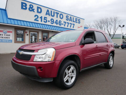 2005 Chevrolet Equinox for sale at B & D Auto Sales Inc. in Fairless Hills PA