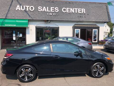 2015 Honda Civic for sale at Auto Sales Center Inc in Holyoke MA