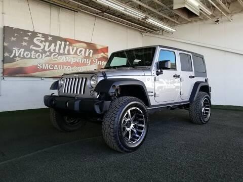 2018 Jeep Wrangler JK Unlimited for sale at SULLIVAN MOTOR COMPANY INC. in Mesa AZ