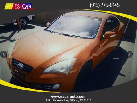 2010 Hyundai Genesis Coupe for sale at Escar Auto in El Paso TX