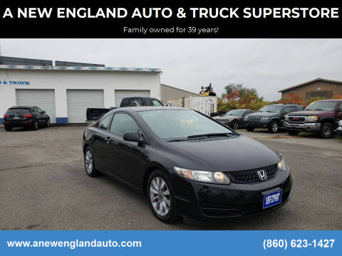 2010 Honda Civic for sale at A NEW ENGLAND AUTO & TRUCK SUPERSTORE in East Windsor CT