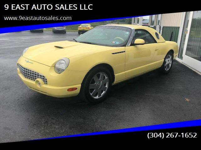 2002 Ford Thunderbird for sale at 9 EAST AUTO SALES LLC in Martinsburg WV