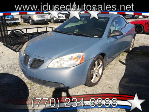 2007 Pontiac G6 for sale at J D USED AUTO SALES INC in Doraville GA