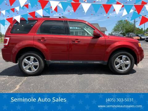 2012 Ford Escape for sale at Seminole Auto Sales in Seminole OK