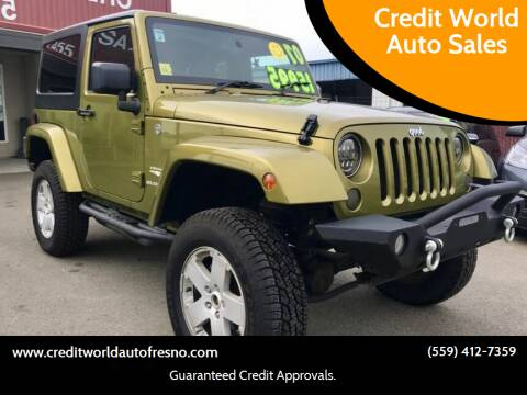 2007 Jeep Wrangler for sale at Credit World Auto Sales in Fresno CA