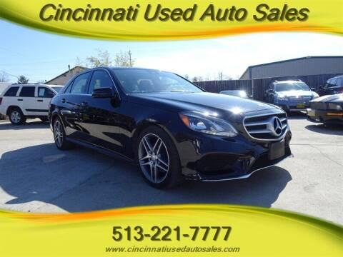 2014 Mercedes-Benz E-Class for sale at Cincinnati Used Auto Sales in Cincinnati OH