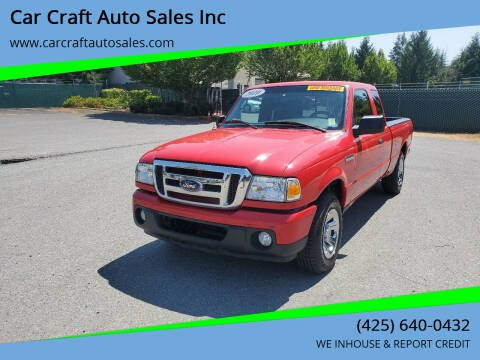 2010 Ford Ranger for sale at Car Craft Auto Sales Inc in Lynnwood WA