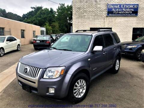 2008 Mercury Mariner for sale at Best Choice Auto Sales in Virginia Beach VA