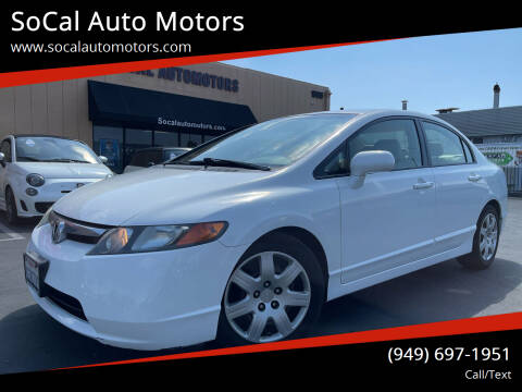 2008 Honda Civic for sale at SoCal Auto Motors in Costa Mesa CA