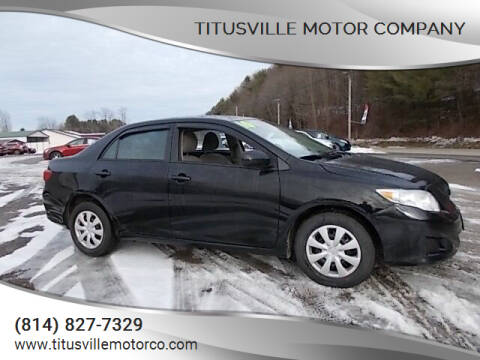 2010 Toyota Corolla for sale at Titusville Motor Company in Titusville PA
