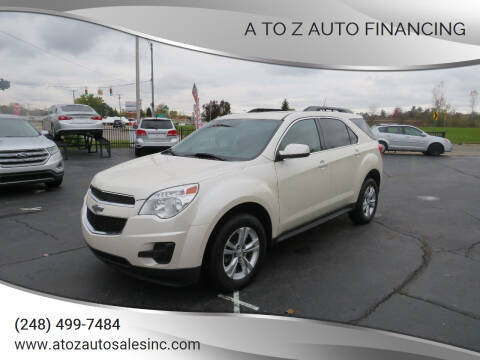 2013 Chevrolet Equinox for sale at A to Z Auto Financing in Waterford MI