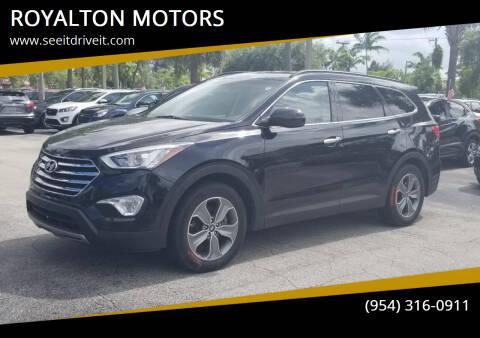 2016 Hyundai Santa Fe for sale at ROYALTON MOTORS in Plantation FL