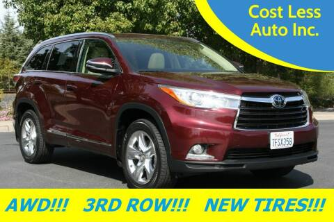 2014 Toyota Highlander for sale at Cost Less Auto Inc. in Rocklin CA