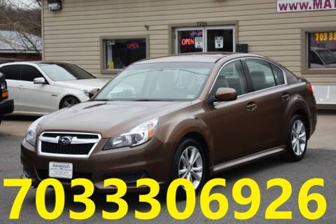 2013 Subaru Legacy for sale at MANASSAS AUTO TRUCK in Manassas VA