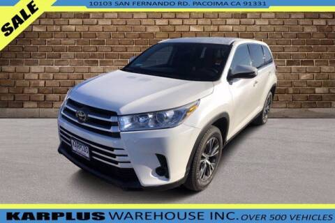2019 Toyota Highlander for sale at Karplus Warehouse in Pacoima CA