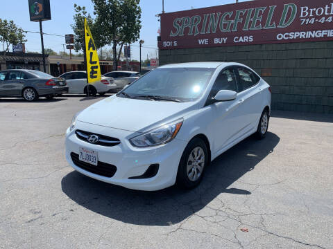 2015 Hyundai Accent for sale at SPRINGFIELD BROTHERS LLC in Fullerton CA