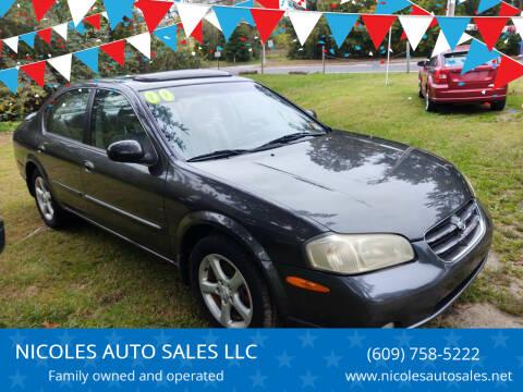 2000 Nissan Maxima for sale at NICOLES AUTO SALES LLC in Cream Ridge NJ