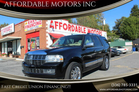 2010 Lincoln Navigator for sale at AFFORDABLE MOTORS INC in Winston Salem NC
