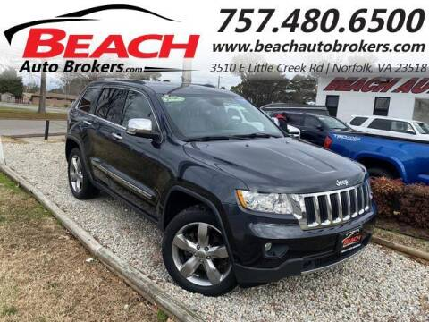 2013 Jeep Grand Cherokee for sale at Beach Auto Brokers in Norfolk VA