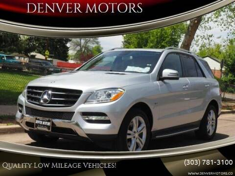 2012 Mercedes-Benz M-Class for sale at DENVER MOTORS in Englewood CO