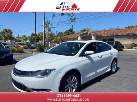 2015 Chrysler 200 for sale at MIKE AHWAZI in Santa Ana CA