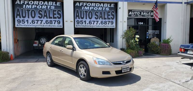 2006 Honda Accord for sale at Affordable Imports Auto Sales in Murrieta CA