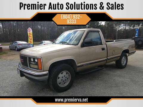 1988 GMC Sierra 1500 for sale at Premier Auto Solutions & Sales in Quinton VA