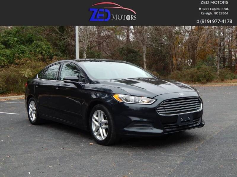 2014 Ford Fusion for sale at Zed Motors in Raleigh NC