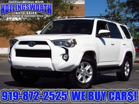 2018 Toyota 4Runner for sale at Hollingsworth Auto Sales in Raleigh NC