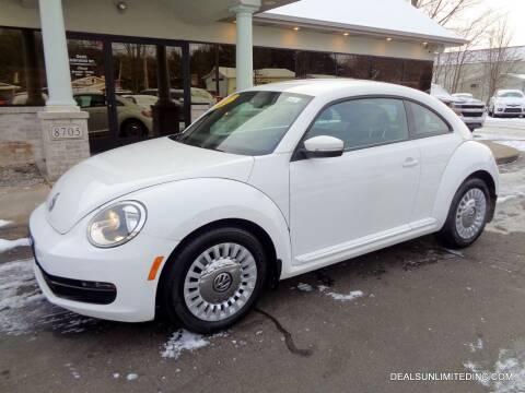 2014 Volkswagen Beetle for sale at DEALS UNLIMITED INC in Portage MI