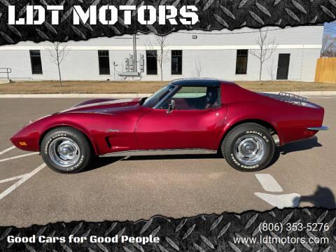 1973 Chevrolet Corvette for sale at LDT MOTORS in Amarillo TX