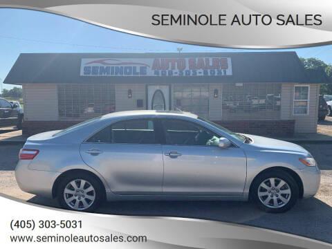 2007 Toyota Camry for sale at Seminole Auto Sales in Seminole OK