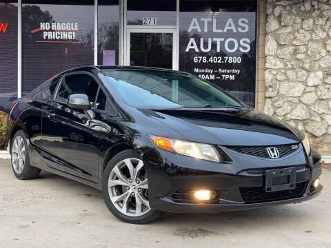 2012 Honda Civic for sale at ATLAS AUTOS in Marietta GA
