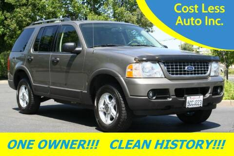 2003 Ford Explorer for sale at Cost Less Auto Inc. in Rocklin CA