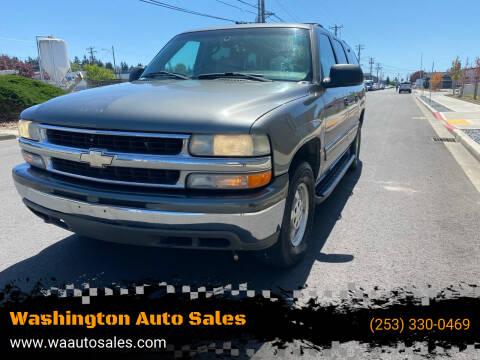 2001 Chevrolet Suburban for sale at Washington Auto Sales in Tacoma WA