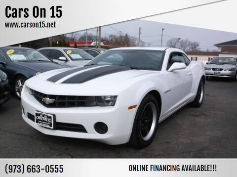 2011 Chevrolet Camaro for sale at Cars On 15 in Lake Hopatcong NJ