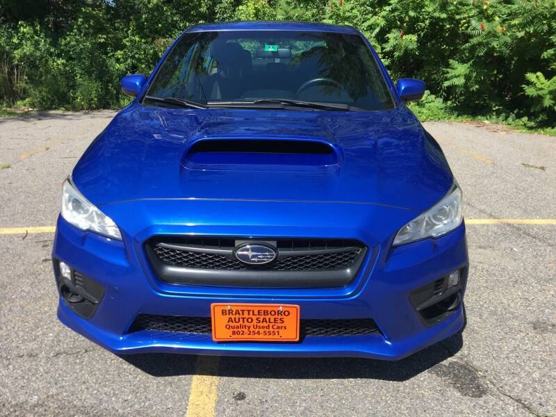 2015 Subaru WRX for sale at BRATTLEBORO AUTO SALES in Brattleboro VT