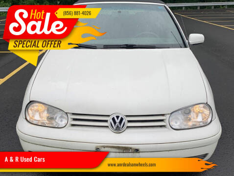 2001 Volkswagen Cabrio for sale at A & R Used Cars in Clayton NJ
