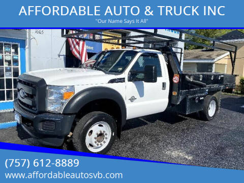 2016 Ford F-450 Super Duty for sale at AFFORDABLE AUTO & TRUCK INC in Virginia Beach VA