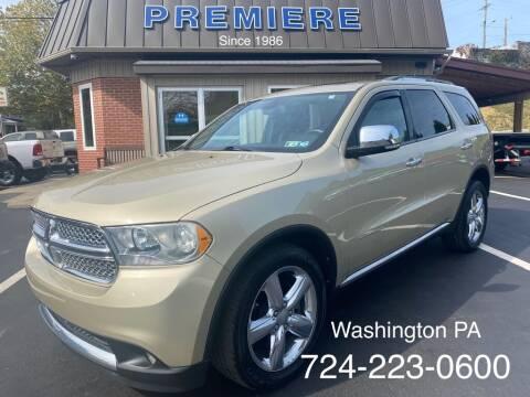 2011 Dodge Durango for sale at Premiere Auto Sales in Washington PA