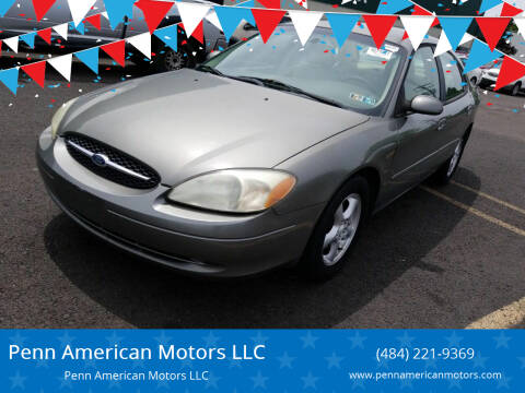 2002 Ford Taurus for sale at Penn American Motors LLC in Allentown PA