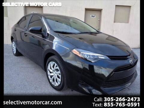 2019 Toyota Corolla for sale at Selective Motor Cars in Miami FL